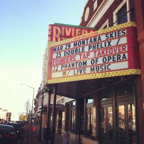 Riviera Theatre in Three Rivers, MI
